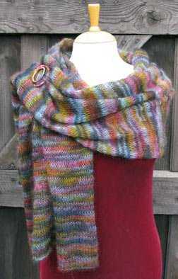 Wrap Knitted in Breeze Lace weight Mohair & Silk