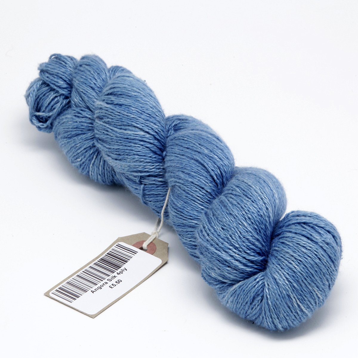 Hand Dyed Angora Silk Yarn