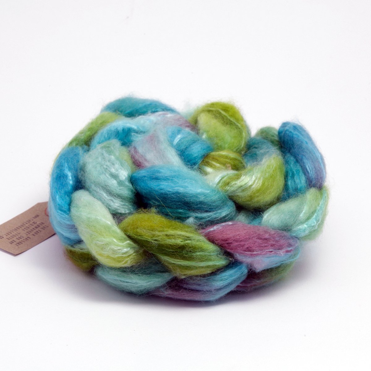 Hand Dyed Fibre for Spinning BLF & Seacell