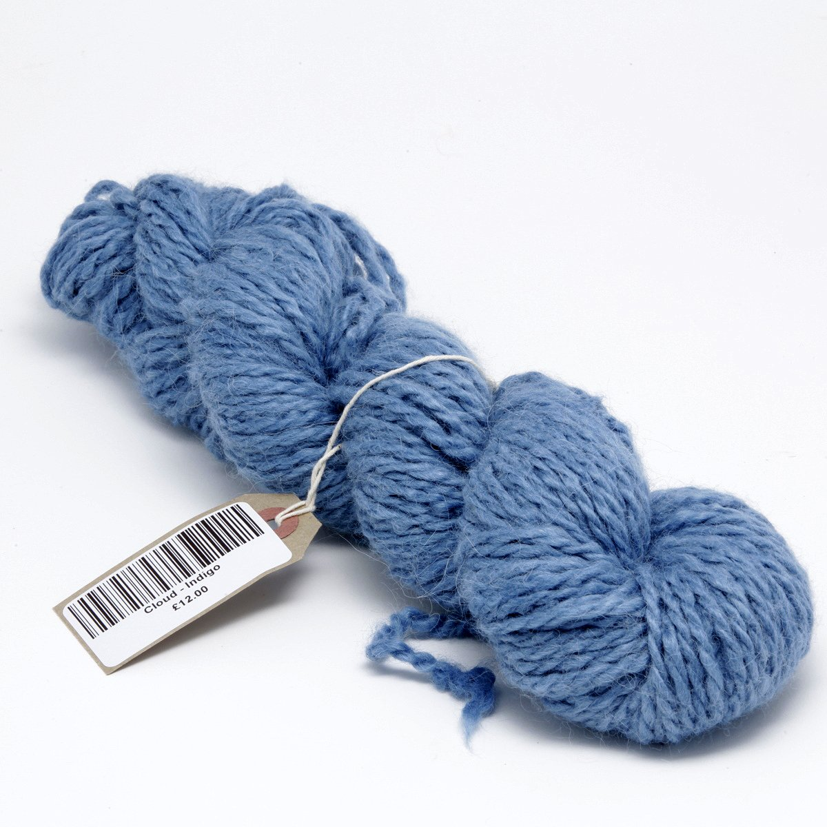 Indigo dyed alpaca knitting yarn