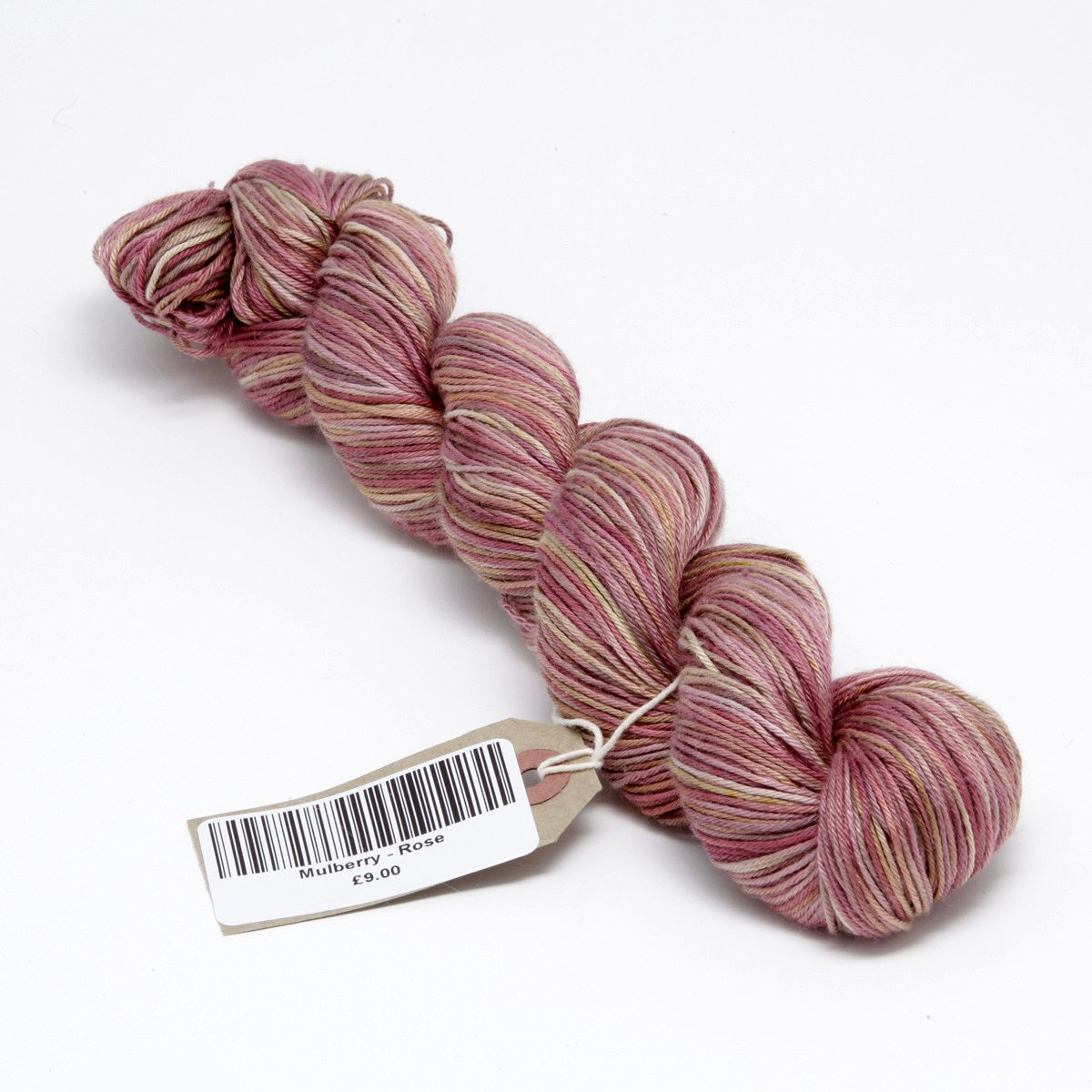 Hand Dyed Pure Silk Knitting Yarn