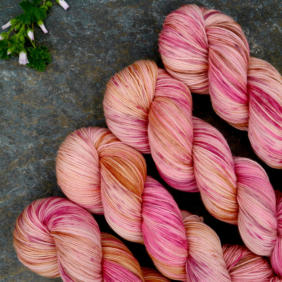 hand dyed merino sock yarn summer fade