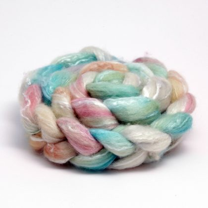 Hand Dyed Fibre Bluefaced Leicester & Seacell
