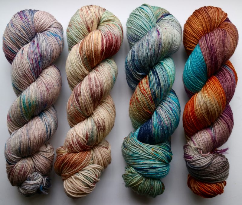 Hand dyed sock yarn