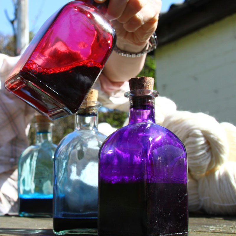 how to hand dye yarn with acid dyes