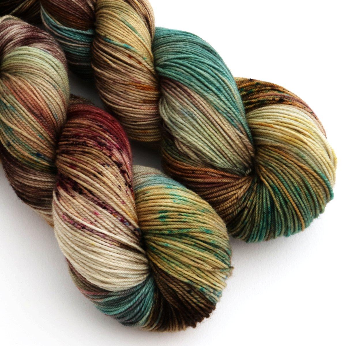 sock yarn hand dyed