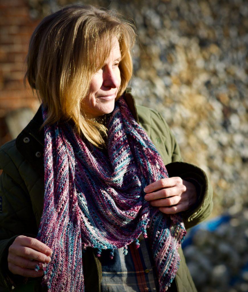 Knitted shawl pattern